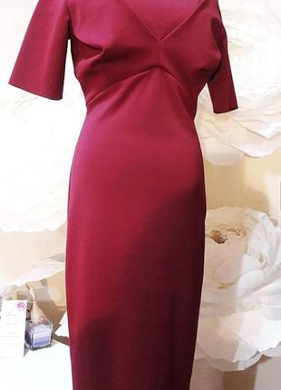 Плотное силуэтное строгое платье