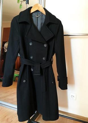 Идеальное шерстяное двубортное пальто next petite
