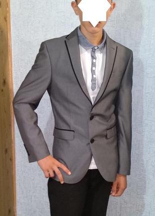 """Пиджак """"next slim fit"""" рост 170 р.34s узкий пиджак стройному мальчику-подростку"""