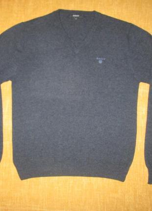 Пуловер gant оригинал шерстяной свитер р. m
