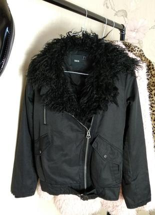 Курточка косуха утепленная asos