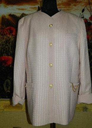 Пиджак женский светло-розовый пудра р. 50-52 schurwoile.