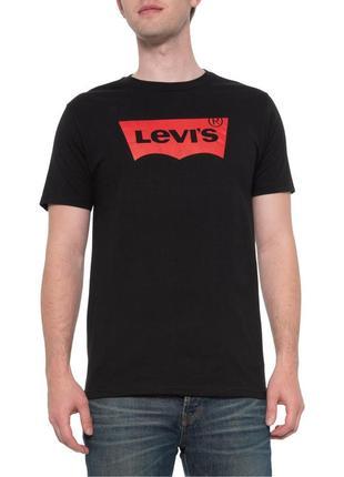 Классическая мужская черная футболка с логотипом levi's(levis) из сша/usa! s, m, l