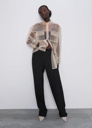 Zara новая коллекция! рубашка свободного кроя