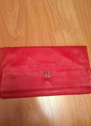 Продам клатч сумочка сумка планшетка кожаная кожа givenchy