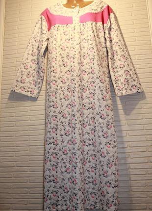 Ночная рубашка, ночнушка, ночная сорочка, теплая, с начесом, на байке 100%х/б великан