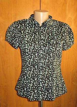 Стильная и красивая рубашка блузка в звезды, наш 38- 42 размер