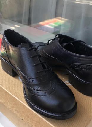 Туфли оксфорды ,натуральная кожа италия