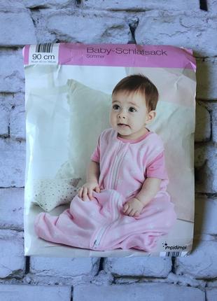 Розовый спальный мешок для девочки принцессы конверт для сна