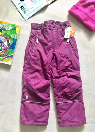Детские зимние штаны, размер 110, финляндия