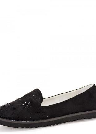 Очаровательные лоферы для девочки. черные.