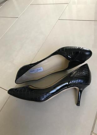 Туфли кожаные стильные уникальные jimmy choo размер 40,5