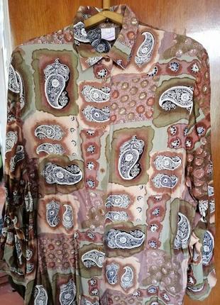 Miss etam винтаж блуза рубашка в принт огурцы.