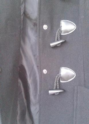 Черное пальто дафлкот atm5
