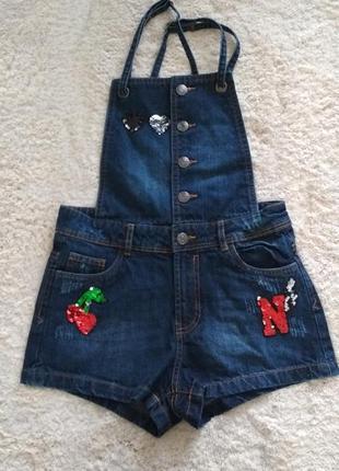 Комбінезон джинсовий шорти