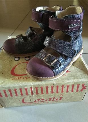 Ортопедические  кожаные туфли cezara rosso