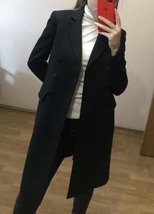Шерстяное пальто allsaints 100% шерсть cos