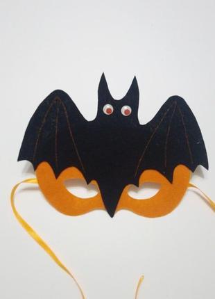 Карнавальная маска на хеллоуин летучая мышь