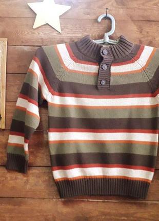Теплый фирменный свитер