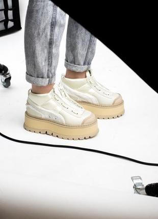 Шикарные женские кроссовки puma x fenty zipped sneaker boots 😃 (весна лето осень)