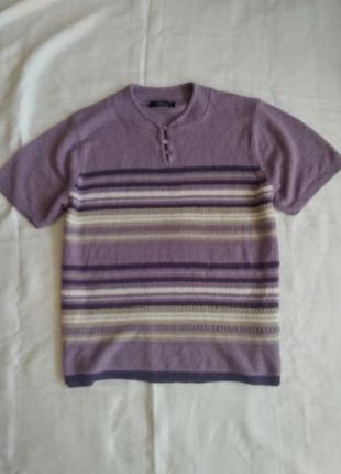 Вязаный свитер джемпер кофточка короткий рукав