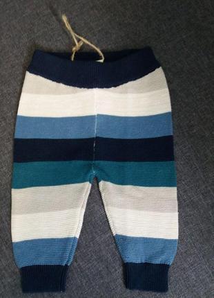 Теплые штаны на новорожденного  50/56 см