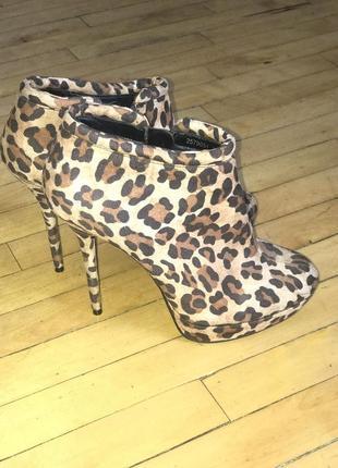 Очень красивые леопардовые ботинки