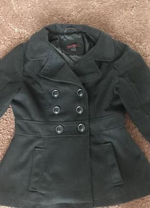 Пальто осень весна шерстяное