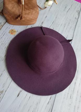 Шляпка, капелюх з полями, шерсть 100%