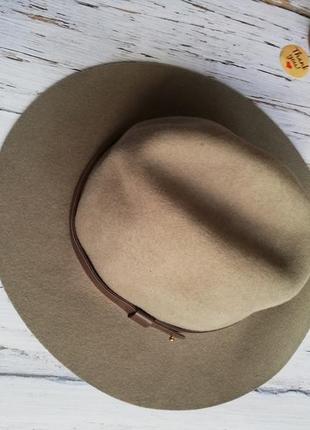 Шляпка, капелюх з полями, шерсть 100% h&m