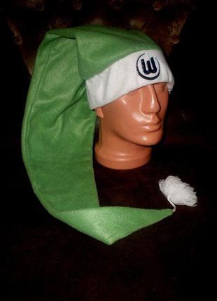 Колпак новогодний длинный зеленый макдональдс