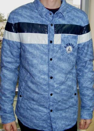 Куртка с эффектом кожи