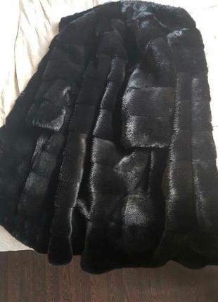 Шуба норковая блекглама