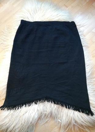 Mr супер классная  шерстяная фактурная юбка большого размера р.29 с