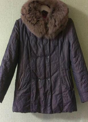 Куртка теплая с натуральным мехом