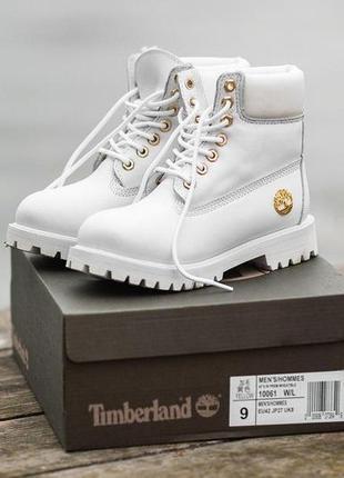 Шикарные женские зимние ботинки timberland white 😍 (с мехом)