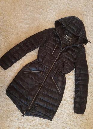 Демисезонная парка/ куртка чёрная