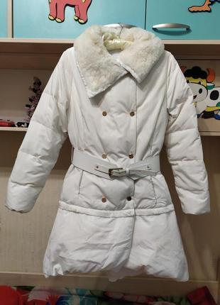 Пуховое пальто elisabetta franchi пуховик-трансформер.