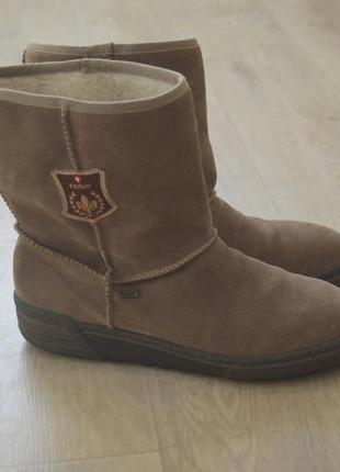 Мужские зимние ботинки натуральная замша rieker германия