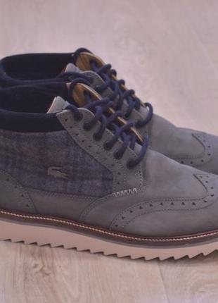 Lacoste мужские ботинки кожа оригинал осень