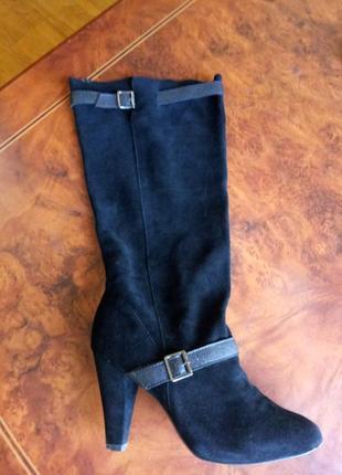 Замшевые сапожки colin stuart. 39 размер. в идеале