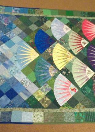 Одеяло покрывало детское цветное лоскутное (печворк) 100х130см