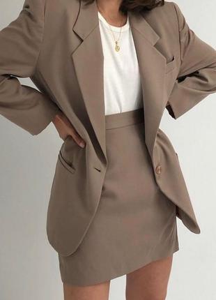 Стильный костюм, костюм с юбкой