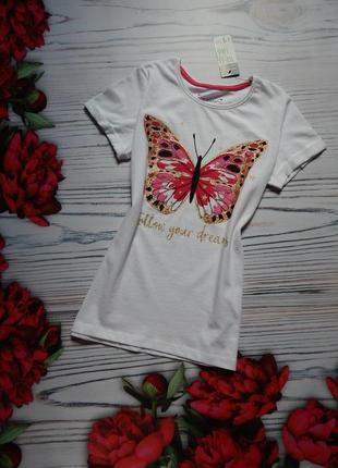 Хлопковая красивая футболка от primark. возраст 10-11 лет.