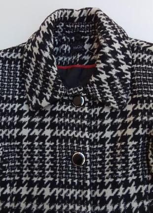 Стильное шерстяное пальто m & co. размер 183 фото