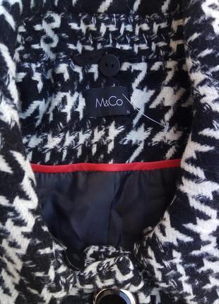 Стильное шерстяное пальто m & co. размер 185 фото