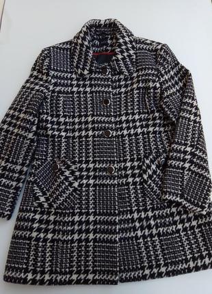 Стильное шерстяное пальто m & co. размер 181 фото