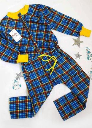 Тёплая байковая пижама на ребёнка 6-10 лет