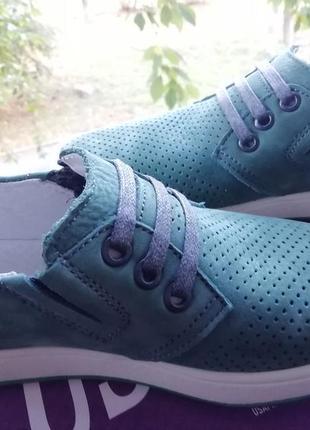 Кожаные туфли мокасины для мальчика подростка с перфорацией тм maxus 33 размер