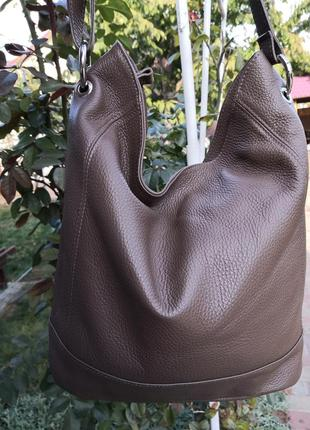 Большая шикарная сумка borse in pelle, италия